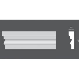 LP.046 profil elewacyjny drzwi i okien 15,5 x 4,5 x 150 cm EXTERIOR