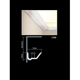 C358 listwa oświetleniowa 7,5 x 14 x 200 cm ORAC LUXXUS