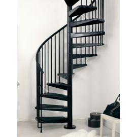 Czarne schody ARKE CIVIK Spiralne na planie koła