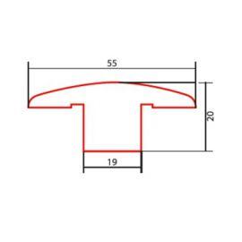 Dąb listwa dylatacyjna lakier biały 2m Barlinek