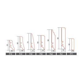 P50 jesion lakier wysoki połysk listwa przypodłogowa BARLINEK