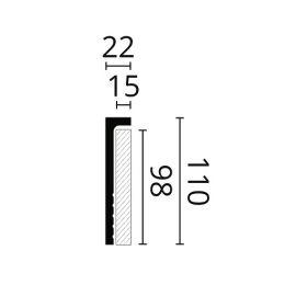 CF2S listwa przypodłogowa 11 x 2,2 x 200 cm Wallstyl NMC