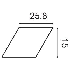 W100 Rombus panel ścienny 3D  25,8 x 2,9 x 15 cm ORAC