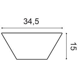 W101 Trapezium panel ścienny 3D  34,5 x 2,9 x 15 cm ORAC