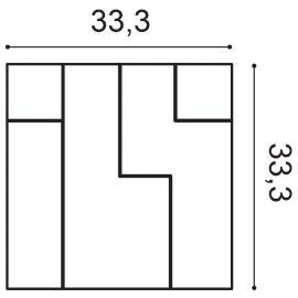 W102 Cubi panel ścienny 3D  33,3 x 2,5 x 33,3 cm ORAC