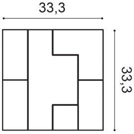 W103 Cubi panel ścienny 3D  33,3 x 2,5 x 33,3 cm ORAC