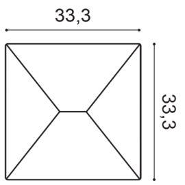 W106 panel ścienny 3D  33,3 x 2,9 x 33,3 cm ORAC