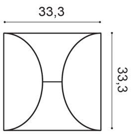 W107 panel ścienny 3D  33,3 x 2,9 x 33,3 cm ORAC