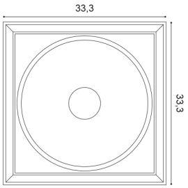 W122 Autoire panel ścienny 3D  33,3 x 2,6 x 33,3 cm ORAC