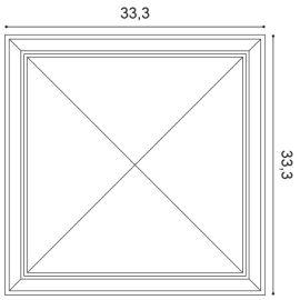 W123 Autoire panel ścienny 3D  33,3 x 3,5 x 33,3 cm ORAC