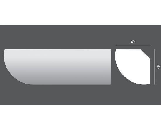 LP.039 profil parapetowy 4,5 x 4,5 x 150 cm EXTERIOR