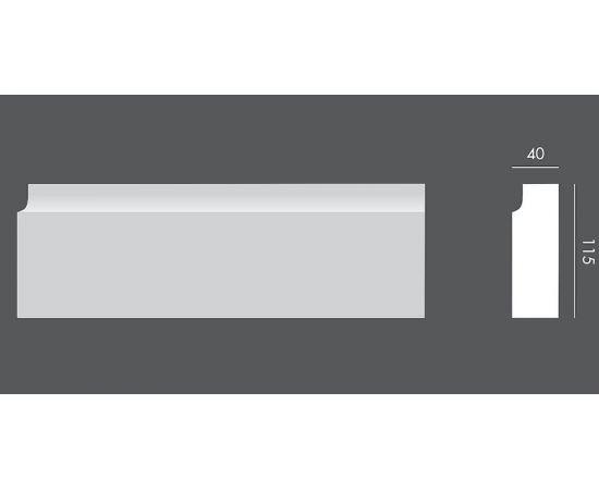 LP.057 profil elewacyjny drzwi i okien 11,5 x 4 x 150 cm EXTERIOR