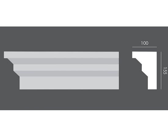 LP.063 profil parapetowy 15,5 x 10 x 150 cm EXTERIOR