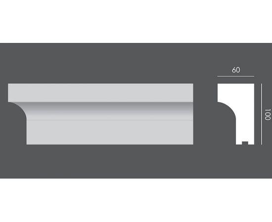 LP.074 profil parapetowy 10 x 6 x 150 cm EXTERIOR