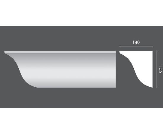 LP.081 profil parapetowy 14 x 15,5 x 150 cm EXTERIOR