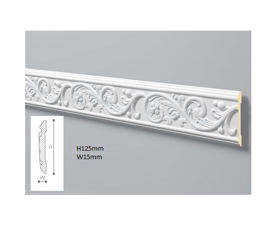 EL2 profil dekoracyjny z ornamentem 12,5 x 1,5 x 200 cm Allegro NMC