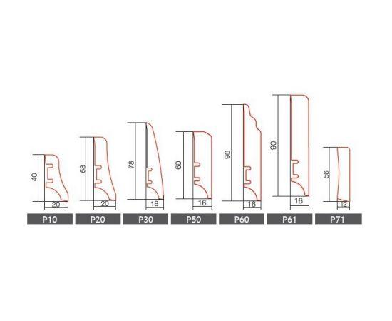 dąb P20 listwa przypodłogowa BARLINEK