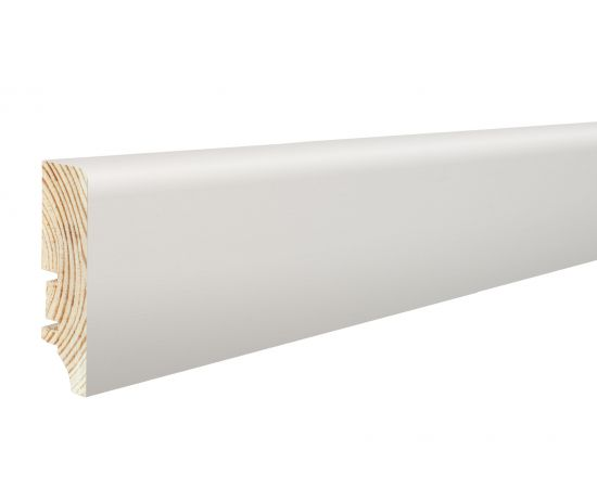 P6P biała okleinowana listwa przypodłogowa BARLINEK